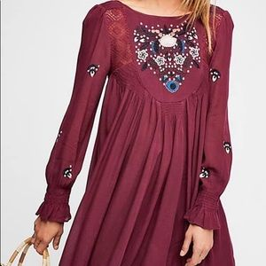 NWT Free People Moya Embroidered Dress Sz Medium